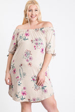 Load image into Gallery viewer, Off Shoulder Round Hem Dress