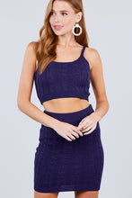 Load image into Gallery viewer, Sleeveless Scoop Neck Sweater Top And Mini Skirt Set