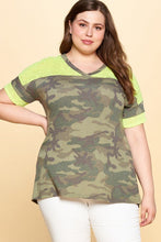 Load image into Gallery viewer, Camouflage Printed Loose-fit Knit Top