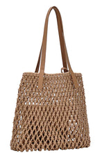 Load image into Gallery viewer, 2in1 Modern Chic String Woven Tote Bag