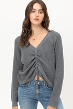 Load image into Gallery viewer, Long Sleeves, Tied Up, Ruched Detail
