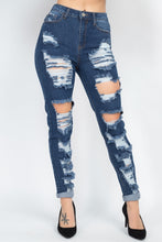 Load image into Gallery viewer, Distressed Straight Leg Jeans