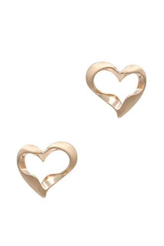 Metal Heart Stud Earring