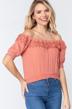 Load image into Gallery viewer, Off Shoulder Lace Detailed Top