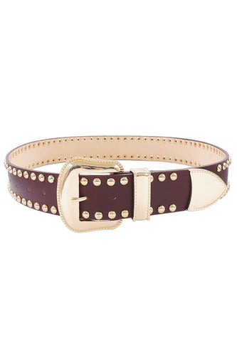 Fashion Studded Western Belt