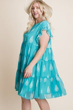 Load image into Gallery viewer, Plus Size Hi-multi Chiffon Printed Tiered Swing Dress