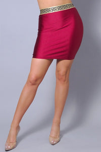 Sexy Elastic Geo Trim Mini Skirt