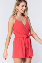 Load image into Gallery viewer, V-neck Cami Belted Romper