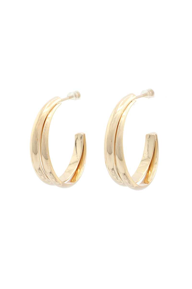 Double Open Hoop Earring