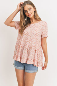 Cang Floral Top With Back Tie