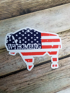 Patriotic Buffalo Jumbo Decal