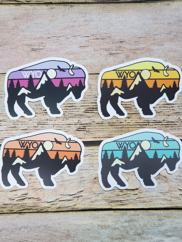Vintage Ombre Buffalo Decal