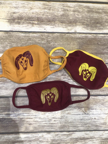 Big Horn Rams Team Colors Face Masks