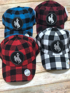 Leather Patch Flannel Hats