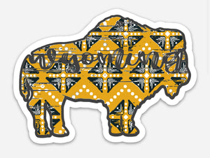 Gold Tribal Buffalo Decal