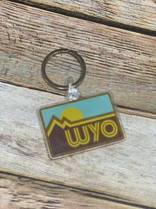 Retro Wyo Key Chain