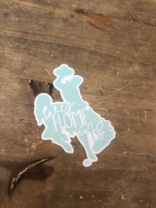 Teal Steamboat Decal