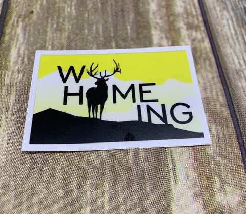 WyHOMEing Buck Decal