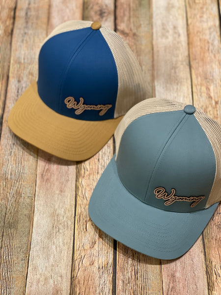 Simply Wyoming Leather Patch Hat