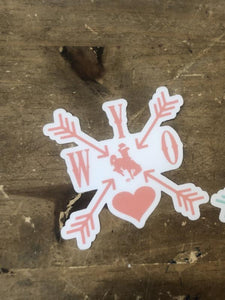 WYO Love Arrows Decal