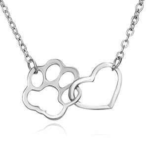 Dog and Heart Necklace