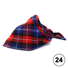 Load image into Gallery viewer, Red Plaid Bandana