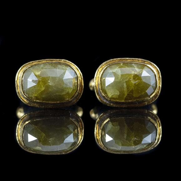 Yellow Diamond & Gold Cufflinks