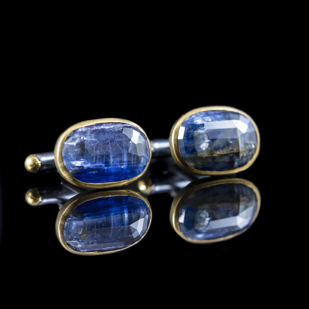 Kyanite & Gold Cufflinks