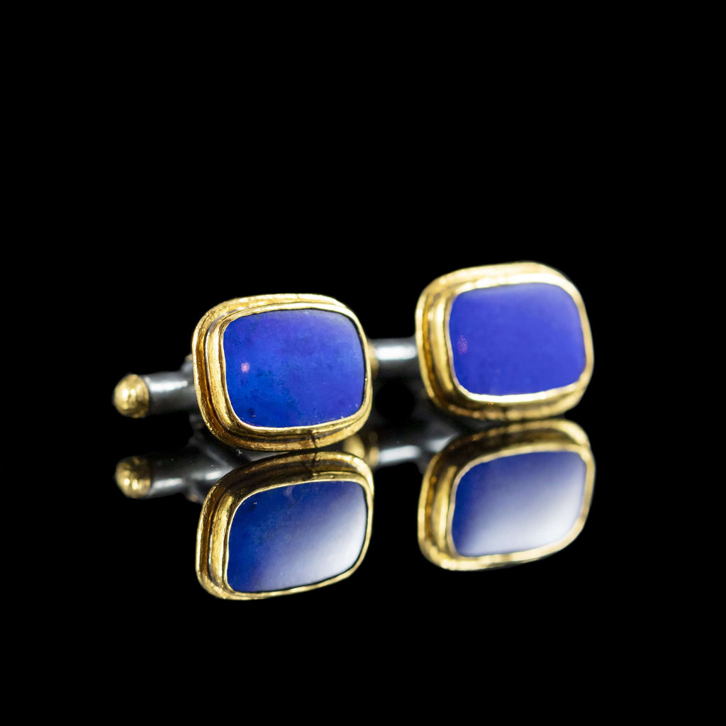 Lapis & Gold Cufflinks I