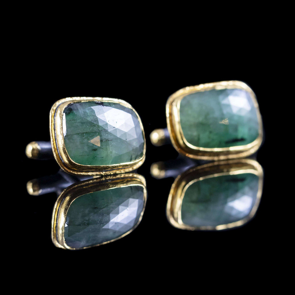 Emerald & Gold Cufflinks I