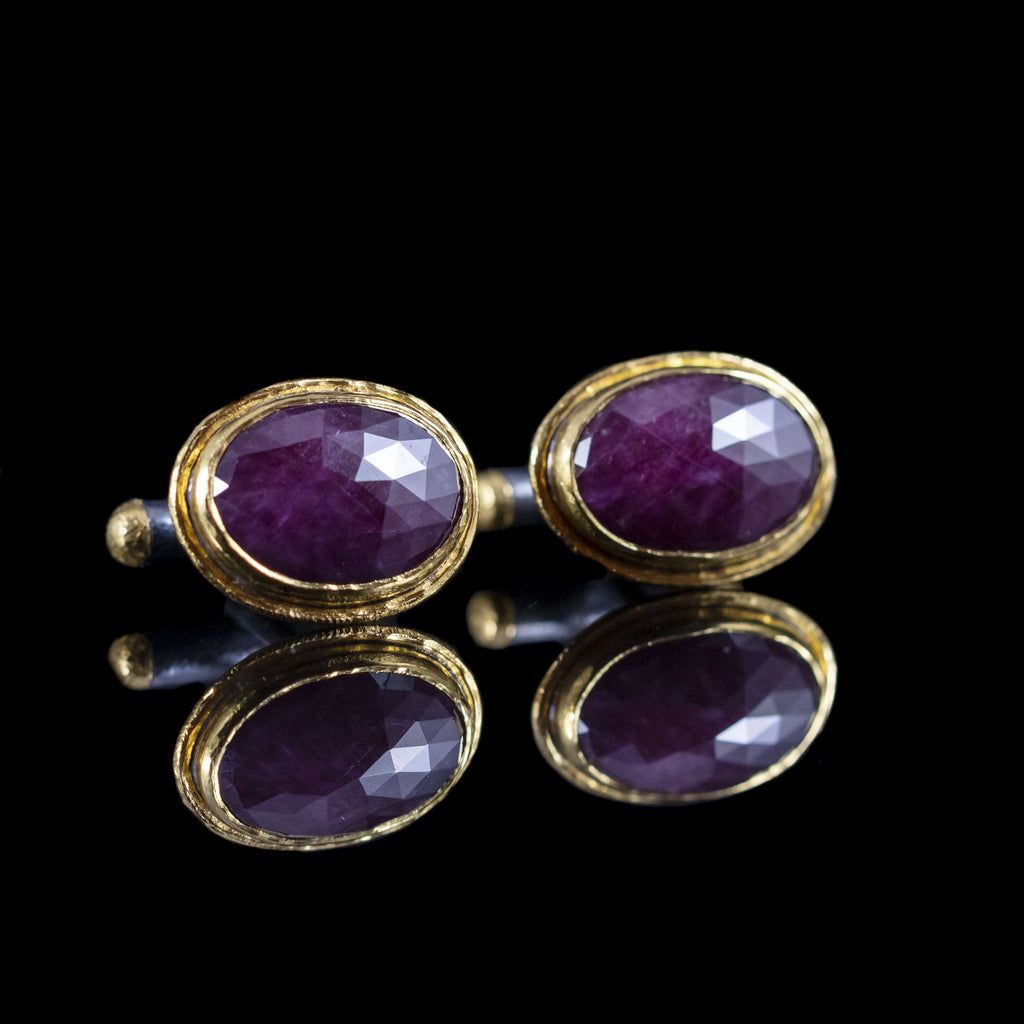 Ruby & Gold Cufflinks II