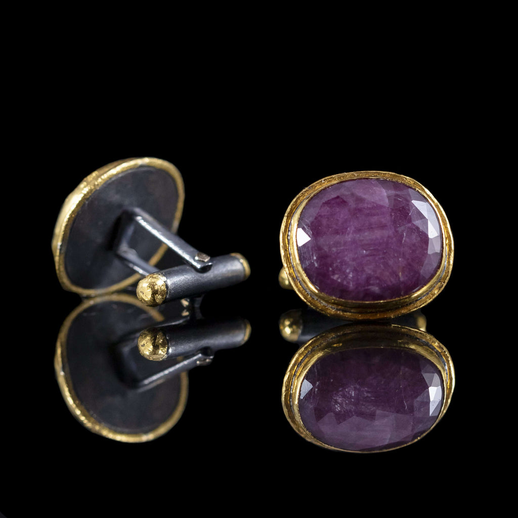 Ruby & Gold Cufflinks III