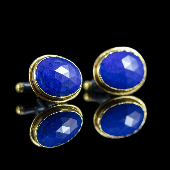 Lapis & Gold Cufflinks II