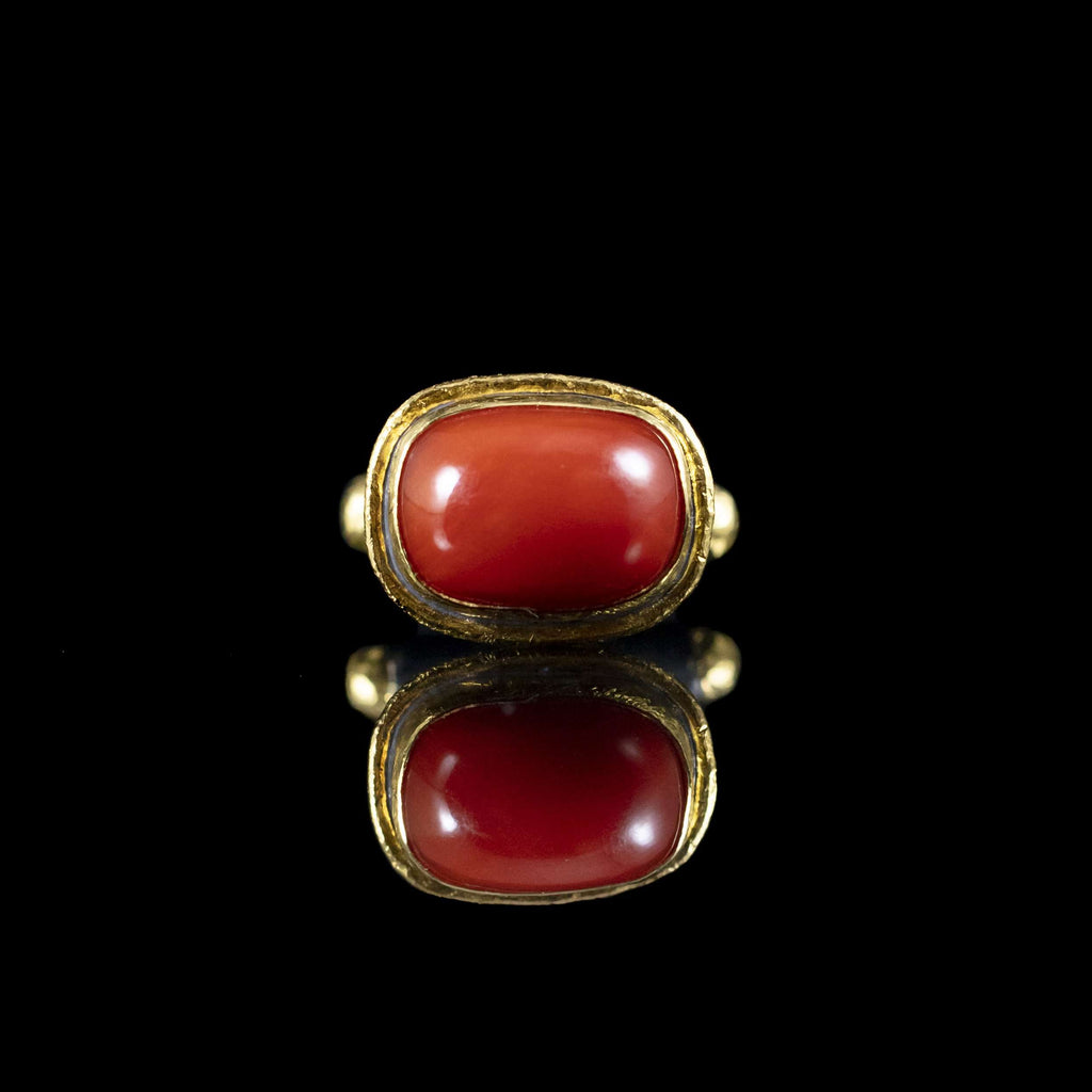Coral & Gold Cufflinks II