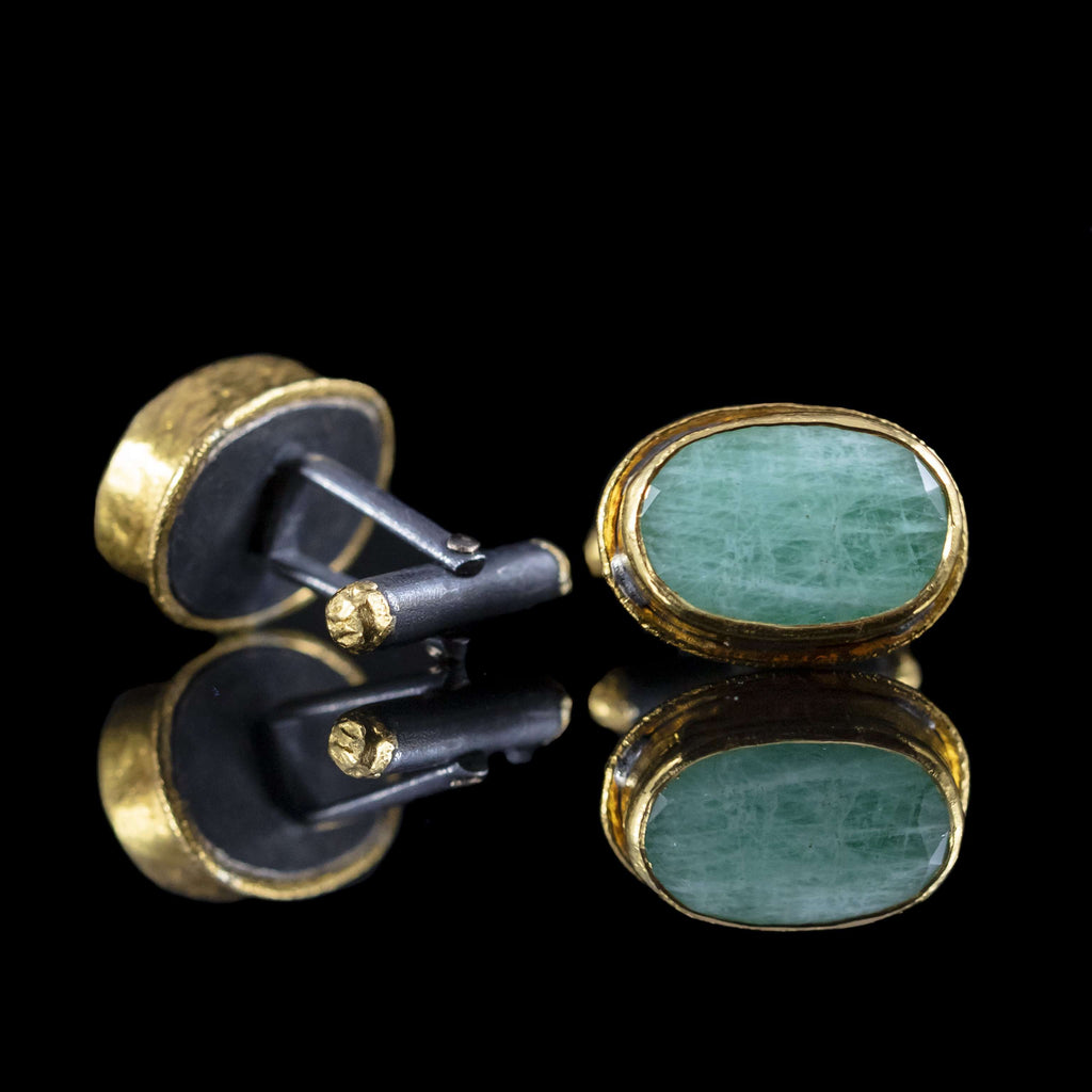 Emerald & Gold Cufflinks III