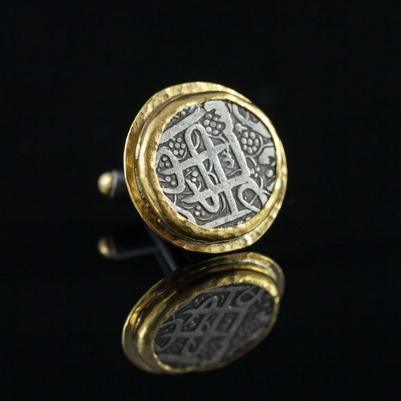 Islamic Indian Silver Coin & Gold Cufflinks I