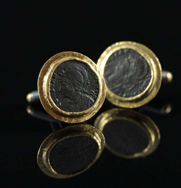 Constantine the Great Copper & Gold Cufflinks I