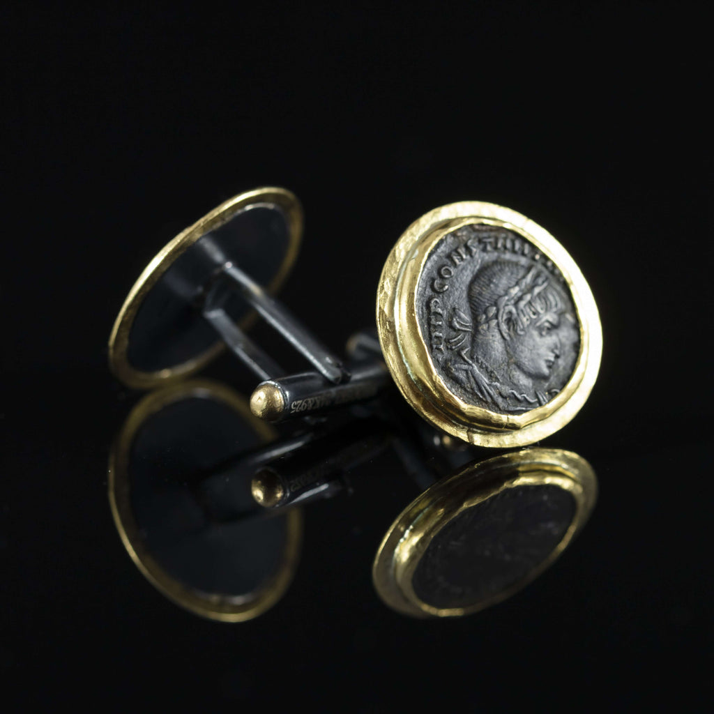 Roman Empire Copper Coin & Gold Cufflinks III