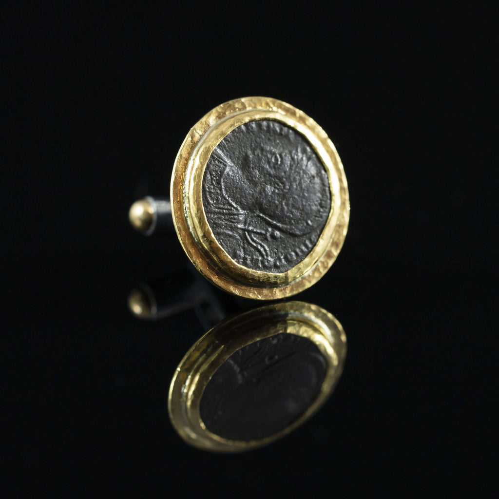 Roman Empire Copper Coin & Gold Cufflinks V
