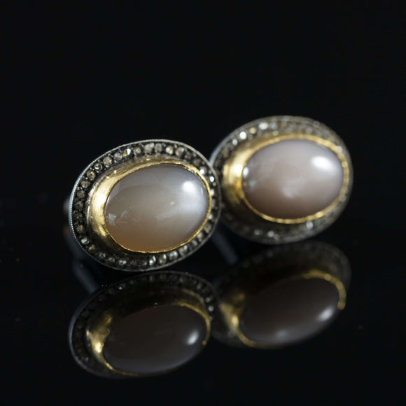 Moonstone & Gold Cufflinks