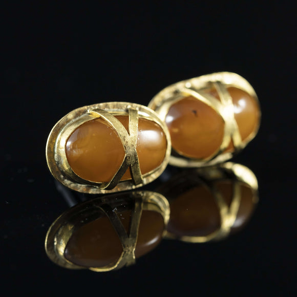 Antique Amber & Gold Cufflinks I