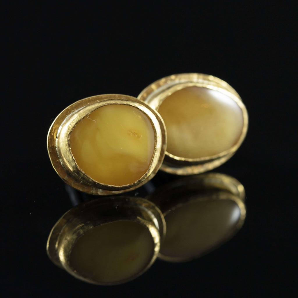 Antique Amber & Gold Cufflinks IV