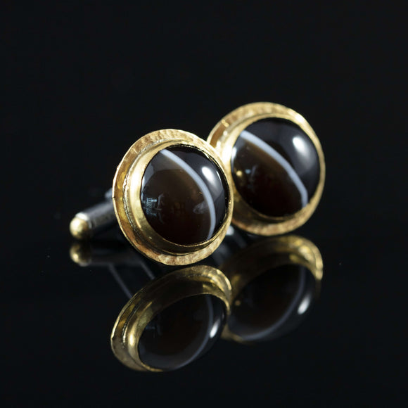 Agate & Gold Cufflinks