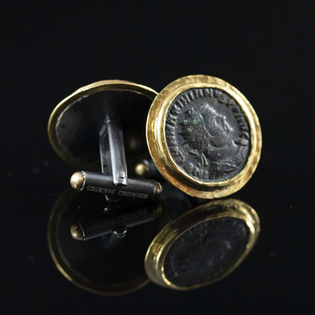 Constantine the Great Copper & Gold Cufflinks II