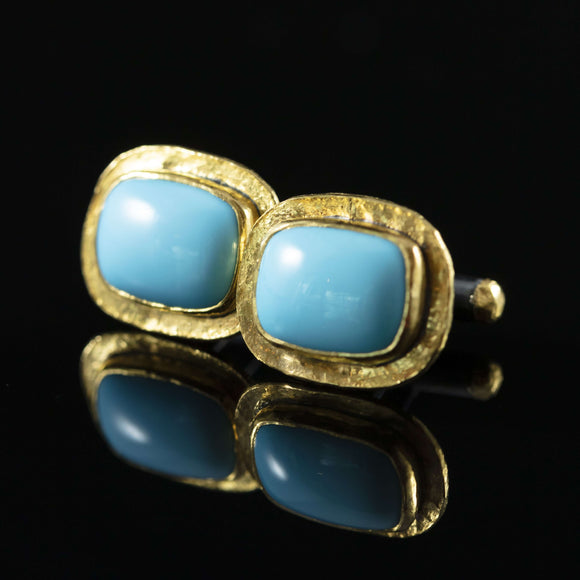 Turquoise & Gold Cufflinks I
