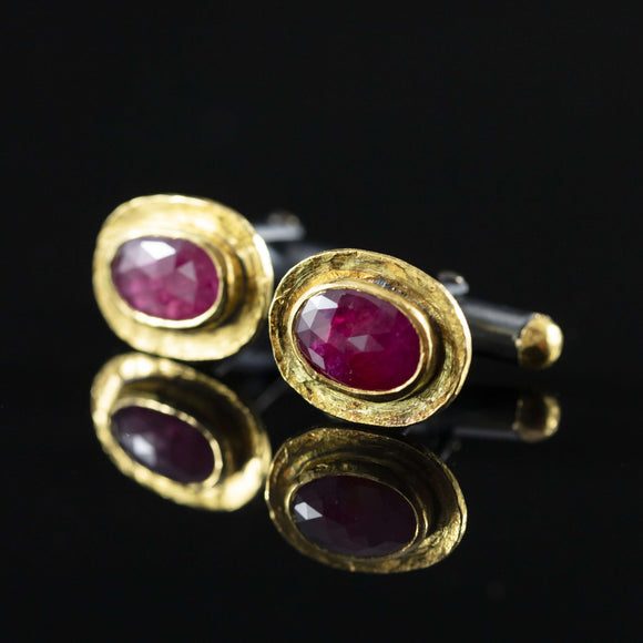 Ruby & Gold Cufflinks I