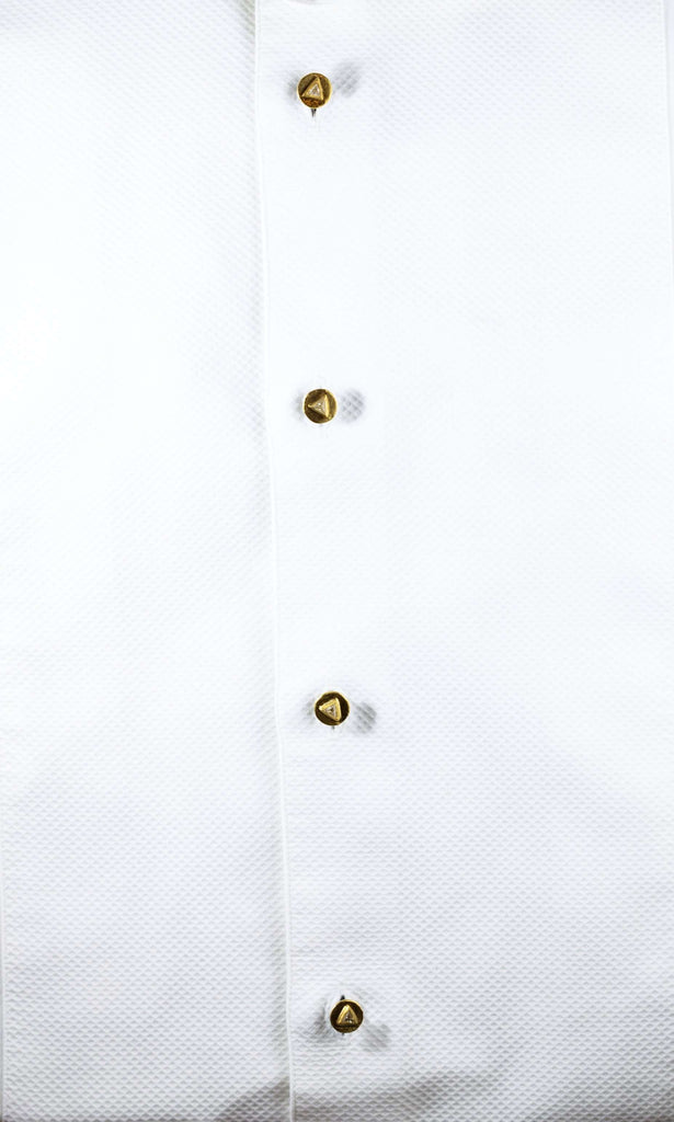 Rose Diamond & Gold Dress Shirt Studs