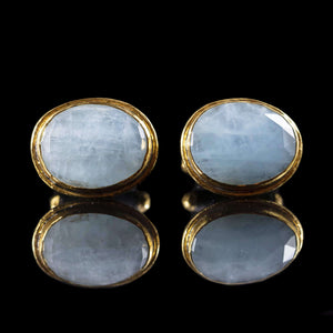 Aquamarine & Gold Cufflinks II