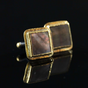 Mother of Pearl & Gold Cufflinks