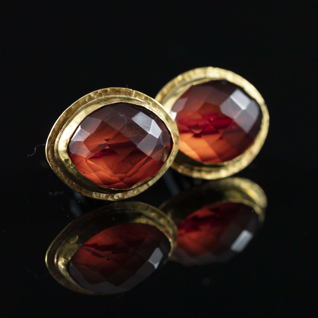 Antique Amber & Gold Cufflinks II